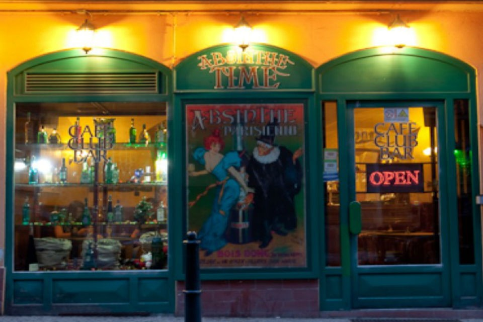 Улица красных фонарей и Абсент бар в Праге